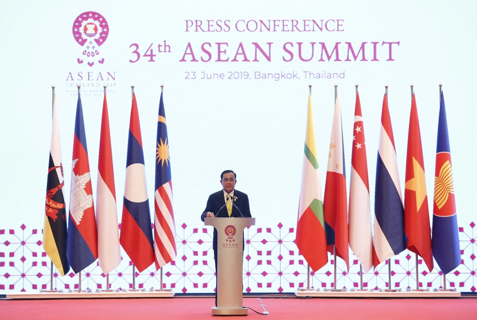 Thai PM held a Press Conference after the 34th ASEAN Summit